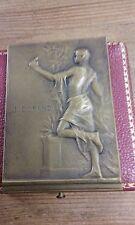SUP MEDAILLE carré bronze NIMES union commerce industrie 1930 signé KAUTSCH M46