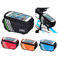 5.5'' Bicycle Cycling Bike Frame Front Tube Bag Waterproof Mobile Phone Holder