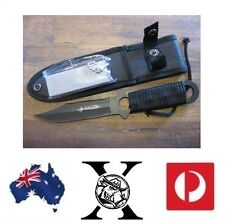 Haller Knife & Military Mag Flint Combo Hiking Camping Hunting Survival Case