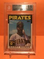 1986 TOPPS TRADED 11T  Barry BONDS RC ROOKIE HR KING HOF ? BGS 8.5 NRMT+ Pirates