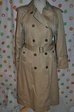 WORTHINGTON KHAKI SEXY TRENCH  DRESS COAT WOMEN 6 P double lining  CHIC EUC