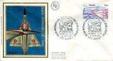 FRANCE FDC - A54 1 SALON DE L'AERONAUTIQUE - 6 Juin 1981 - LUXE sur soie
