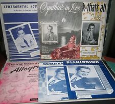 Sheet Music 6 vintage Perry Como Sentimental Journey Les Brown Cynthia's in Love