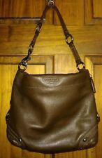 Coach F15251 Medium Carly Brown Pebbled Leather Hobo Shoulder Handbag
