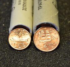 GRECE 2006 : 1 série de 2 pièces 1 et 2 cent de rouleaux