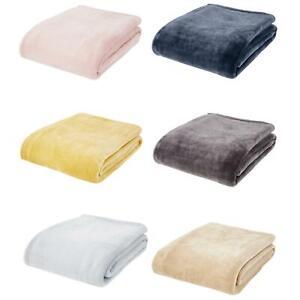 Catherine Lansfield Raschel Velvet Throw Large Cosy Blanket Throws 200cm x 240cm