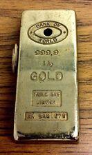 VINTAGE BUTANE CIGARETTE TABLE GAS LIGHTER BANK OF WORLD GOLD BAR 9999 PRINCE