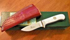 CANAL STREET New D'Holder Design White Bone Drop Point Hunting Knife/Knives