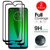 For Motorola Moto G7 Plus - FULL COVER Tempered Glass Screen Protector [2-Pack]