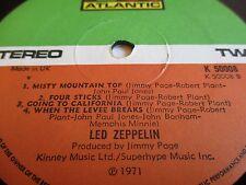 Led Zeppelin IV Atlantic 'Misty Mountain Top' Error A3/B4 EX Porky/Pecko Vinyl