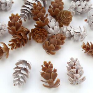 10x Natural Pine Cone Dried Flowers Christmas Garland Wreath Ornament Home Decor
