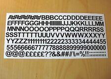 "3/"" Black Numbers Self Adhesive Vinyl Stickers boat car plate door coding 75mm"