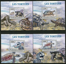Burundi 2013 MNH Turtles Green Sea Turtle 4x 1v Deluxe S/S Reptiles Stamps