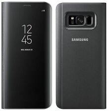 NEW GENUINE SAMSUNG GALAXY S8 CLEAR VIEW STANDING COVER FLIP CASE WALLET BLACK