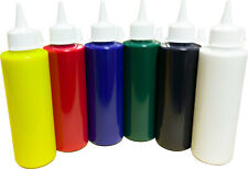 Poster Paint Set 6 - Yellow, Red, Blue, Green, Black & White