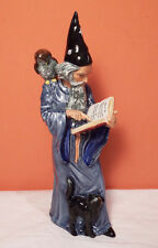 Royal Doulton The Wizard Figurine Perfect Cat Owl Spell Book Magic 1978 Hn 2877