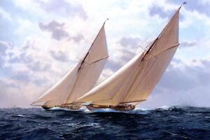 LMOP113 100% hand-painted sailing ship seascape OIL PAINTING CANVAS decor ART
