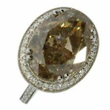 18 Carat Oval White Gold Fine Diamond Rings