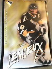 Mario Lemieux Autographed 24�X36� Poster * Pittsburgh Penguins * Hockey Legend