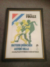 FRAMED CANVAS PRINT OF 1982 EUROPEAN CUP FINAL - ASTON VILLA V BAYERN MUNICH