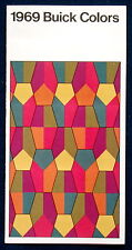 Prospekt brochure 1969 Buick Colors * Farbkarte * Color Chart (USA)