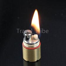 EDC Cool Novelty Mini Gear Fire Flint Wick Kerosene Cigarette Lighter Keychain