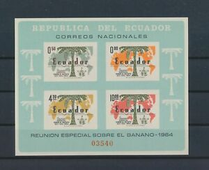 LO42095 Ecuador 1964 freedom from hunger imperf sheet MNH
