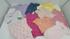 10 Piece Lot of Baby Girl's Clothes Size 6 Months Bundle Pants Jumpers Dresses