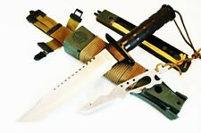 Survival Knife Gürtelmesser mit Überlebensausrüstung Hunting Knife Messer Jagd