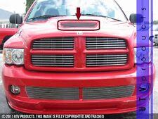 GTG 2004 - 2006 Dodge Ram SRT10 1PC Polished Overlay Hood Scoop Billet Grille