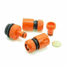 4 pcs Garden Lawn Water Hose pipe fitting Set Connector tap adaptor 12-19 mm
