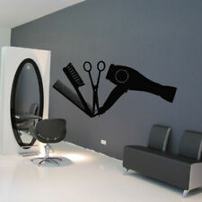 Wall Decal Hair Hairdryer Salon Scissors Brush Curling Curl Beauty Girl M937
