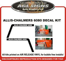 ALLIS-CHALMERS 6080 TRACTOR HOOD DECAL KIT  REPRODUCTIONS