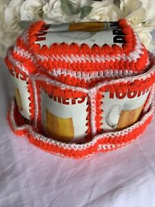 Vintage Tooheys Beer Can Crochet Knit Retro Hat Collectable