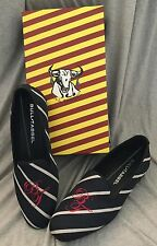 Mens Bull + Tassel BIFF Loafer Driving Moccasins,  Slip On Logo Stripe Size 10.5