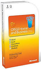 MS  OFFICE 2010  HOME AND BUSINESS PKC CARD