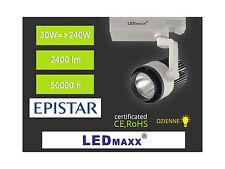 LED-MAXX Spot 3-Phasen Strahler weiß-schwarz 36° 30W Schiene Leuchte 230V
