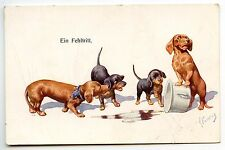 ILLUSTRATEUR  FEIERTAG CHIEN DOG TECKEL DACKEL DACHSHUND
