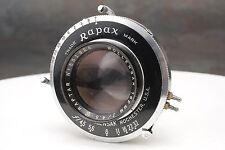 :Wollensak 162mm F4.5 Raptar 4x5 Lens in Rapax Shutter - Read Description