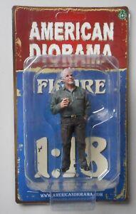 "MECHANIC JIM THE BOSS AMERICAN DIORAMA 1:18 Scale Figurine 3.75"" Male Figure"