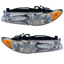 97-03 Grand Prix Headlight Headlamp DOT Head Light Lamp Left Right Side Set PAIR
