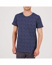 BNWT mínimo Dinamarca para hombre Canyon Oscuro Iris Algodón Camiseta Camiseta Medio