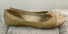 Authentic Jimmy Choo Beige & Nude Patent Leather Ballet Flats Size 38½