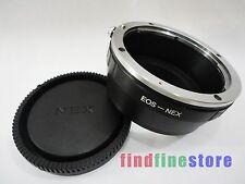 Adapter for Canon EOS EF Lens to Sony E NEX 3 NEX 5 NEX 7 NEX C3 5C 5N 5R + CAP