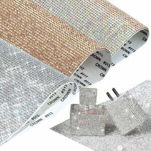 Stick On Diamond Crystal Rhinestone Bling Stickers Self Adhesive Sheet DIY Craft