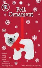 Felt Stitch Polar Bear Ornament Christmas Craft Kit-Cute Holiday Hand Embroidery