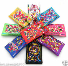 Wholesale 10PCS CHINESE EMBROIDER satin silk MOBILE PHONE POUCHES Bags