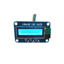 "0.91"" SSD1306 128x32 I2C OLED Module Blue Graphic Display Monochrome"