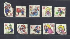 Japan 2017 Super Mario Complete Used Set Sc# 4123 a-j