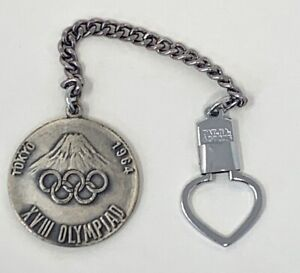 1964 Tokyo Japanese Olympic Rings Mt Fuji Medal Coin Japan Olympics Keychain